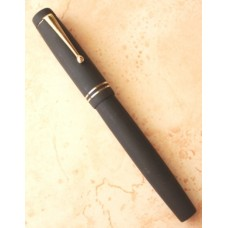 Gama Raja Matt Black Ebonite Fountain Pen